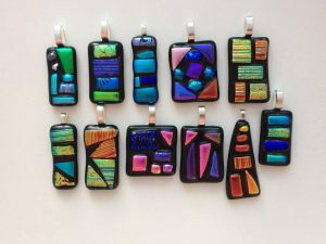 Fused Glass Jewellery Workshop: 4.30 – 6.30pm. Fully Booked