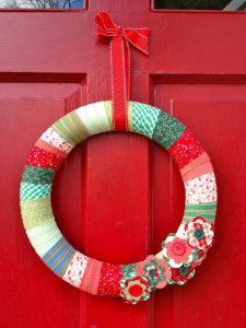 Fabric Christmas Wreath Making